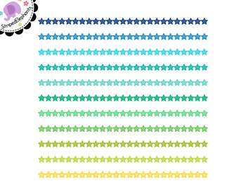 Star Digital Ribbon Borders 2