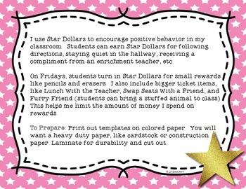 Star Dollars {a behavior management program}