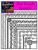 Star Doodle Borders {Creative Clips Digital Clipart}