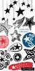 Star Doodle ClipArt Graphic, Superhero Theme, Classroom Jobs, Bulletin Board