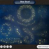 Star Dust, Gold Star Clip Art,  Solar System, Galaxy Digital Graphics