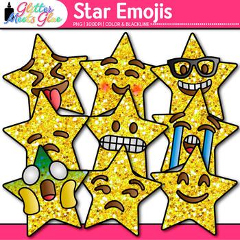 Star Emoji Clip Art | Emoticons and Smiley Faces for Brag Tags & Classroom Decor