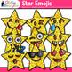 Star Emoji Clip Art | Emoticons and Smiley Faces for Classroom Decor & Rewards