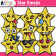 Star Emoji Clip Art {Emoticons and Smiley Faces for Brag T