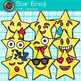 Star Emoji Clip Art {Emoticons and Smiley Faces for Brag Tags & Classroom Decor}