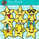 Star Emoji Clip Art | Emoticons and Smiley Faces for Task Card & Classroom Decor