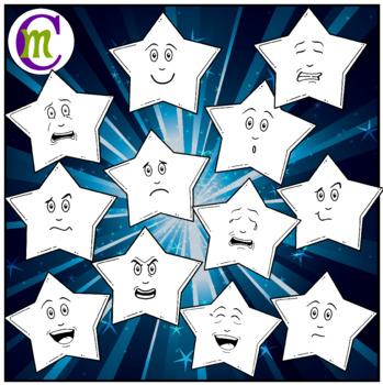Star Emojis Clipart Pastels