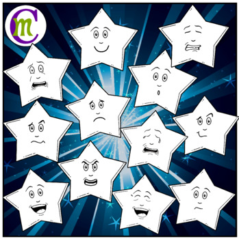 Star Emojis Clipart Secondary Colors