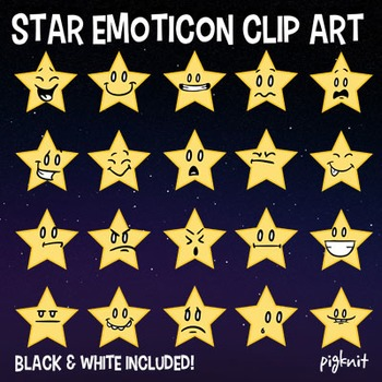 Star Emoticon Clip Art, Faces, Emoji Graphic, Emotions, Facial Expressions