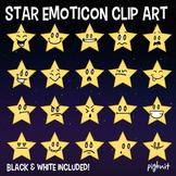Star Emoticon Clip Art, Faces, Emoji Graphic, Emotions, Fa
