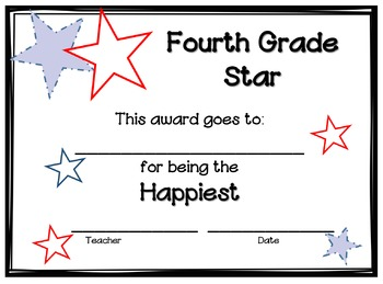 End of Year Awards - Fourth Grade