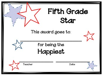 End of the Year Awards - Fifth Grade