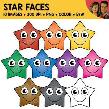 Star Face Clipart