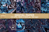Star Fantasy Marble Digital Papers Abstract Textures Backgrounds