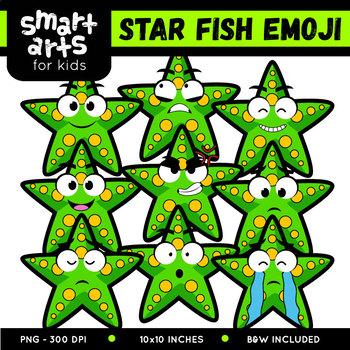 Star Fish Emoji Clip Art