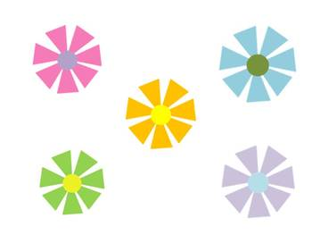 Star Flower Clip Art for Personal and Commercial Use