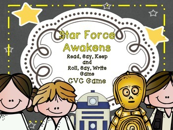 Star Force Awakens - Read, Say, Keep, and Roll, Say, Write CVC Game