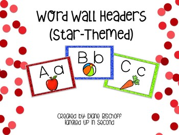 Dolch Word Wall: Color Stars