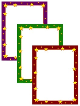 Star Frames & Borders Clip Art for Personal and Commercial Use!