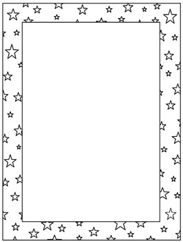 Star Frames / Borders for personal or commercial use