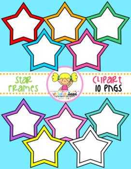 Star Frames Clipart Freebie