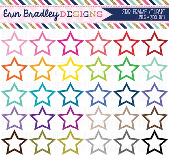 Star Frames Clipart Graphics