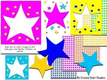 Star Frames - Editable Photo Frames and Clip Art