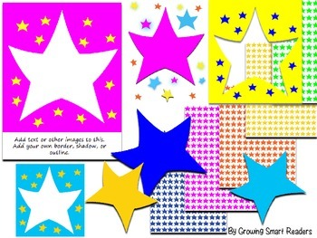 Star Frames - Editable Photo Frames and Clip Art