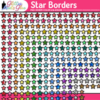 Star Border Clip Art {Frames for Back to School Activities