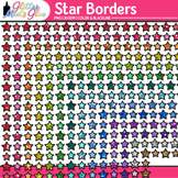 Star Border Clip Art {Frames for Back to School Activities and Worksheets}