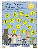 Star Friends! Adding 3 Numbers Roll and Cover- Free