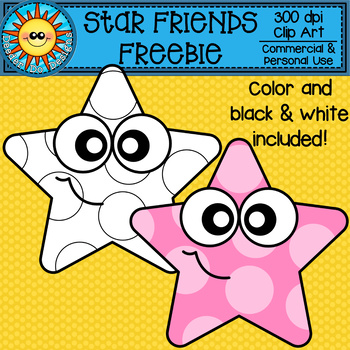 Star Friends FREEBIE Clip Art