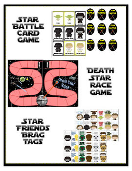 Star Games (Star Wars Inspired) Set: Battle Game, Brag Tags