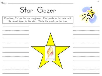 Star Gazer {Daily 5 Word Work matching Open Court Phonics Sounds}