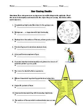 Star Gazing Sleuths - Worksheet