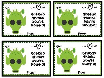 Star Heroes Valentine Cards