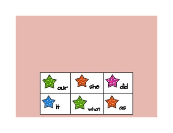 Star High Frequency Words- 3rd Quarter