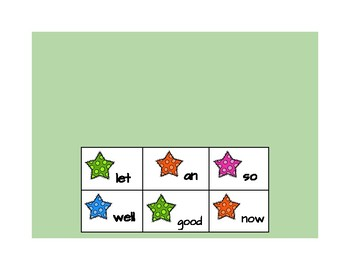 Star High Frequency Words 4th Quarter