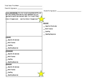 Star Homework Checklist