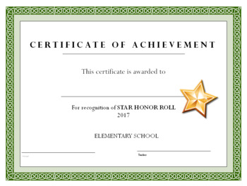 b honor roll certificate template - honor roll certificate honor roll certificate template