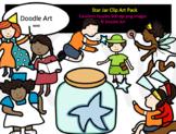 Star Jar Clip Art Pack
