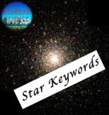Star Keywords Assessment/Quiz - Bonus Enhanced Font (24+ f