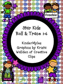 Star Kids Roll and Trace 1-6 Freebie
