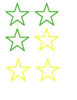 Star Labels/Clip Art - editable