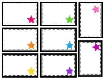 Star Labels editable