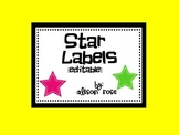 Star Labels editable
