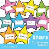 Star Labels for the Classroom {Editable}
