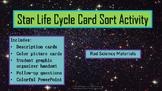 Star Life Cycle Card Sort Activity