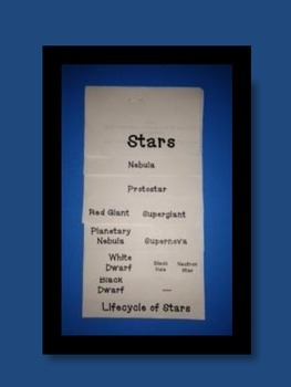 Star Life Cycle Layered Foldable