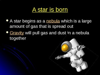 Star Life Cycle: Presentation and Notes